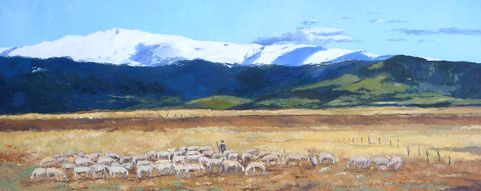Oleo de un paisaje de Segovia