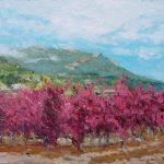 Paisaje de otoño de un viñedo en La Rioja