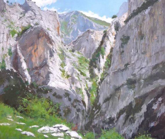 Óleo de los Picos de Europa
