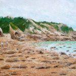 Oleo de la playa de la Franca