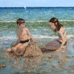 Retrato en la playa dedicado a mis hijos