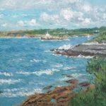 Paisaje de la Isla de Mouro y la bahía de Santander