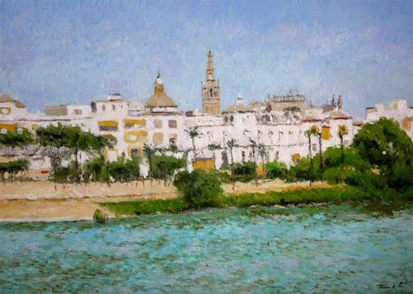 Sevilla, cuadro al óleo