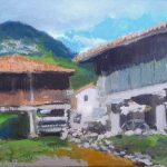 Cuadro al oleo de Asturias