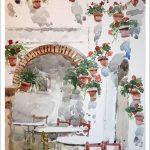 Acuarela de un patio de Córdoba