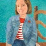 Cuadro al óleo de un retrato de una niña