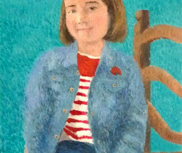Retrato al oleo de mi hija Jimena