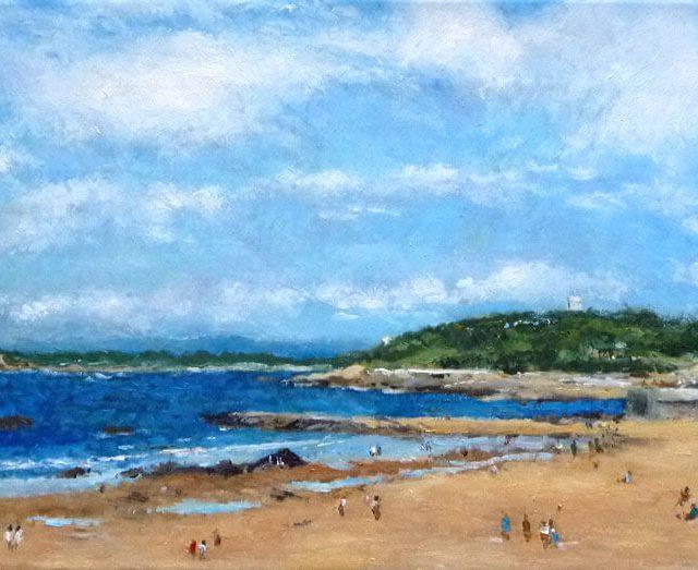 Cuadro de la playa del Sardinero, Santander.