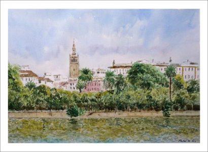 Sevilla desde el barrio de Triana | Acuarela.