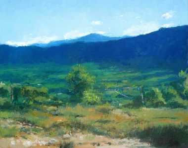 Cuadro al oleo del valle de Bustarviejo