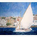 Velero navegando en Cadaqués