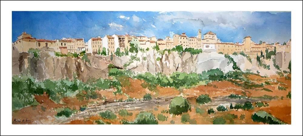 Paisaje de un cuadro de una vista general de Cuenca