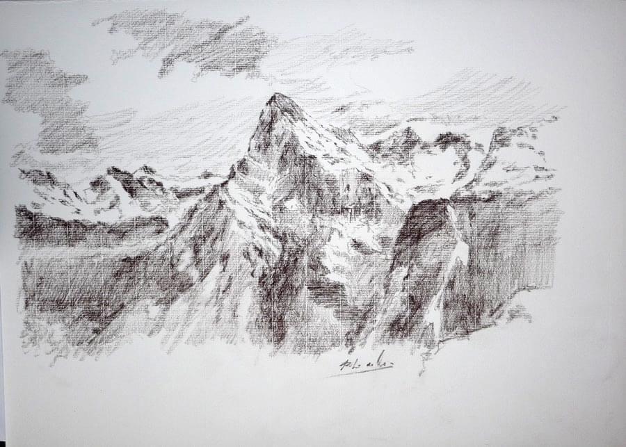 Dibujo de los Picos de Europa