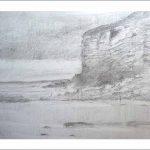 Dibujo a lápiz de la playa de Luaña