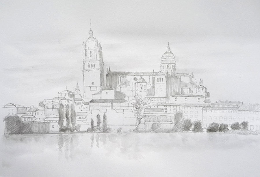 Dibujo de la Catedral de Salamanca