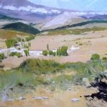 Cuadro de un paisaje del norte de Palencia