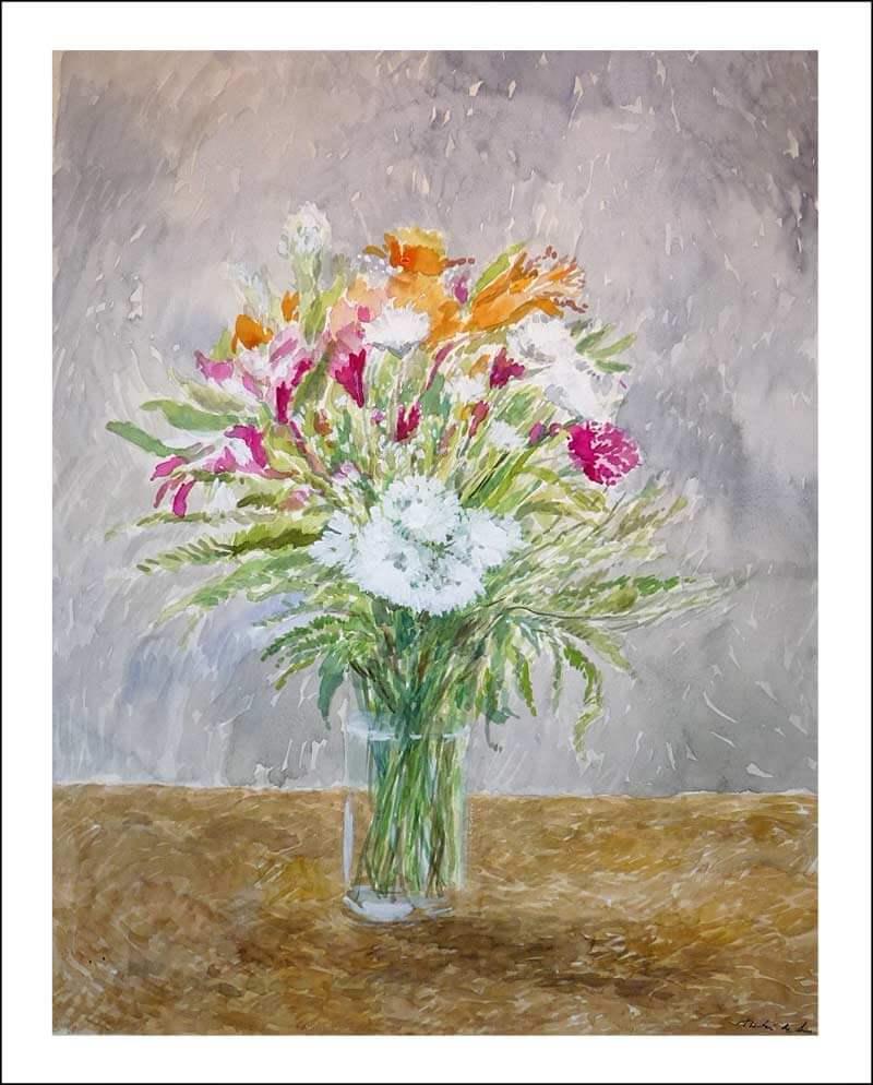 Cuadro de un jarrón de flores
