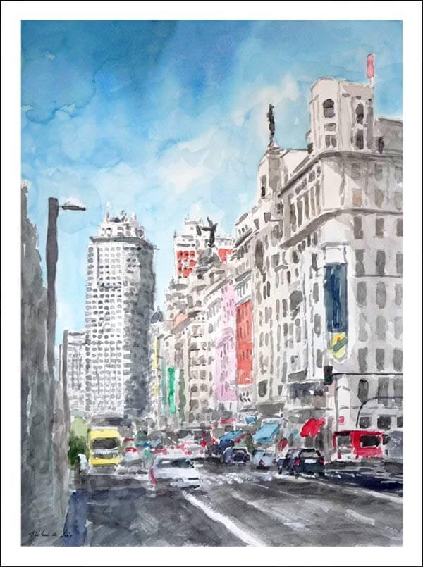 Cuadro de la Gran Via de Madrid