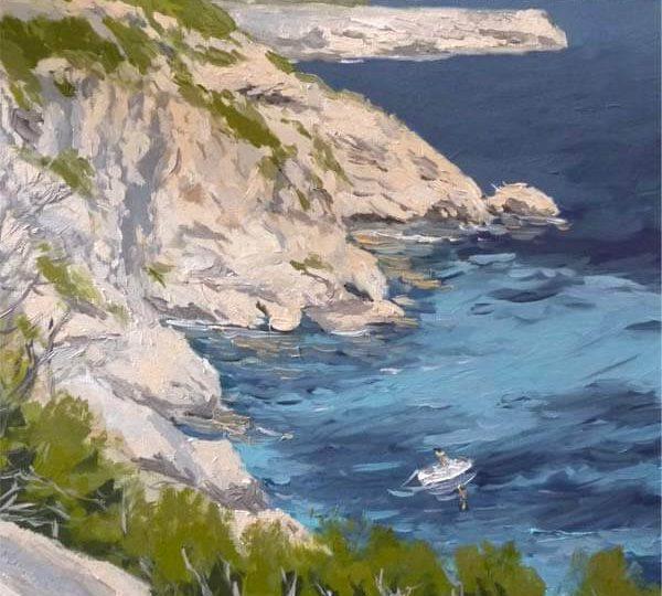 Marina al oleo de Formentera