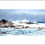 Marina en acuarela de la Costa da Morte en Galicia