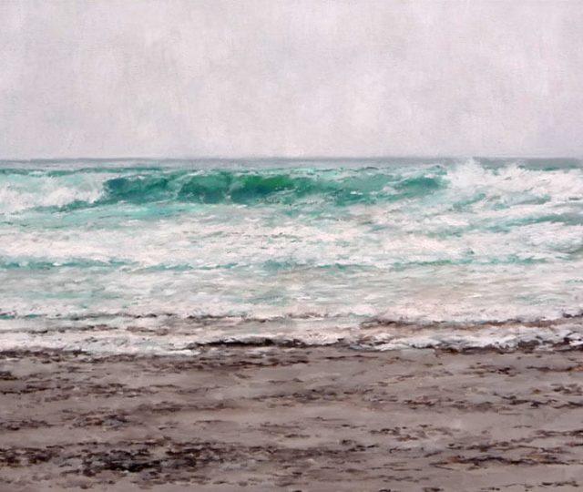 Marina, óleo sobre lienzo, Mar Cantábrico