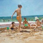 Marina Niños jugando en la playa