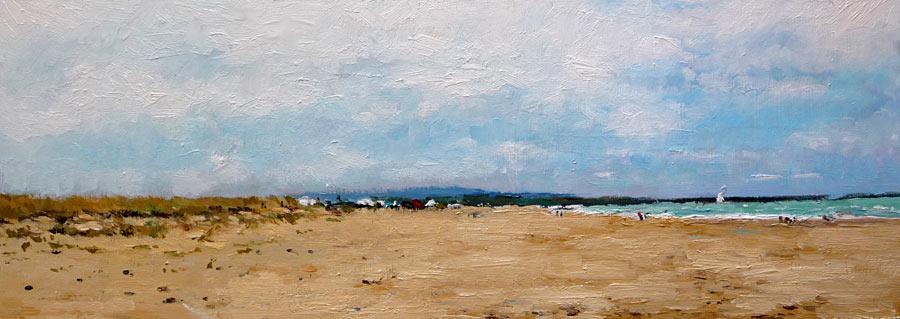 Cuadro de una playa de Huelva