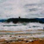 Marina de un temporal en la playa del Sardinero, Santander