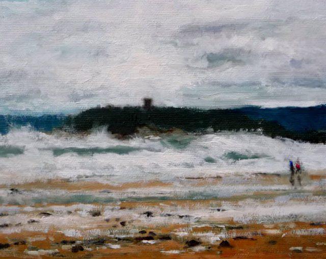Marina al oleo de Santander