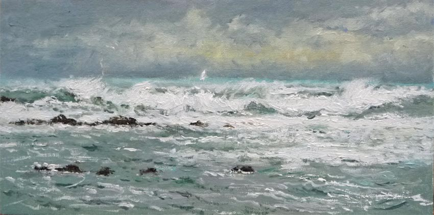 Marina al oleo