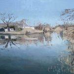 Cuadro al oleo del río Tajo