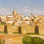 Cuadro al óleo de las murallas de Ávila