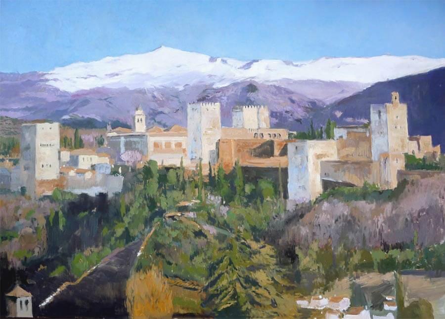 Oleo de al Alhambra, Granada