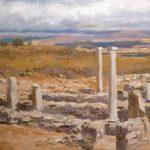 Paisaje al óleo de una vista desde las ruinas de Numancia