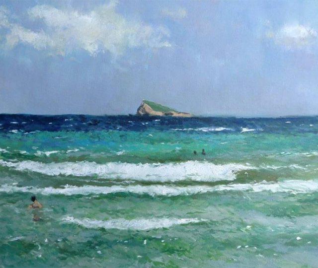 oleo,la isla de Benidorm