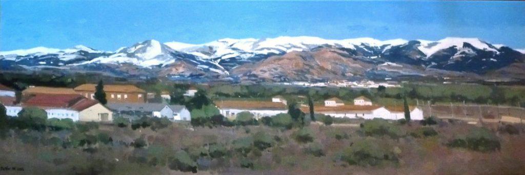 Óleo de La Cuerda larga en la Sierra de Guadarrama