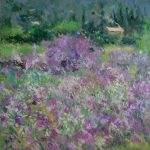 Cuadro de flores violetas