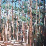 Cuadro al oleo de un pinar en Canencia