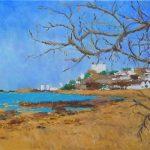 Oleo de la playa de Los Peligros en Santander