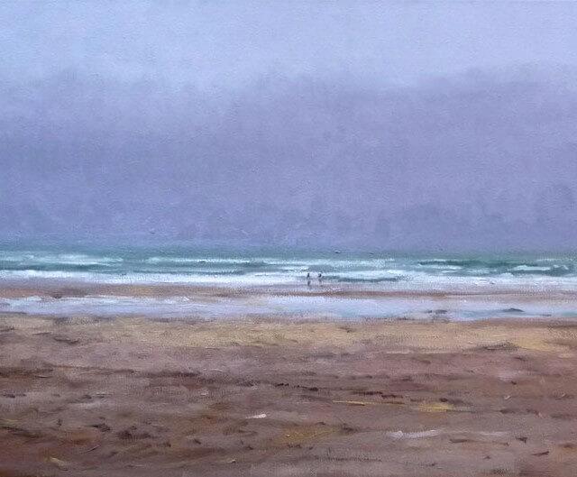 Oleo de la playa de Oyambre