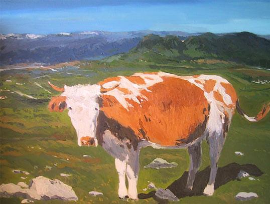 Oleos de castilla y le n cuadros al oleo de paisajes de - Cuadros de vacas ...