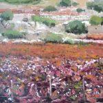 Cuadro al oleo de La Rioja en otoño