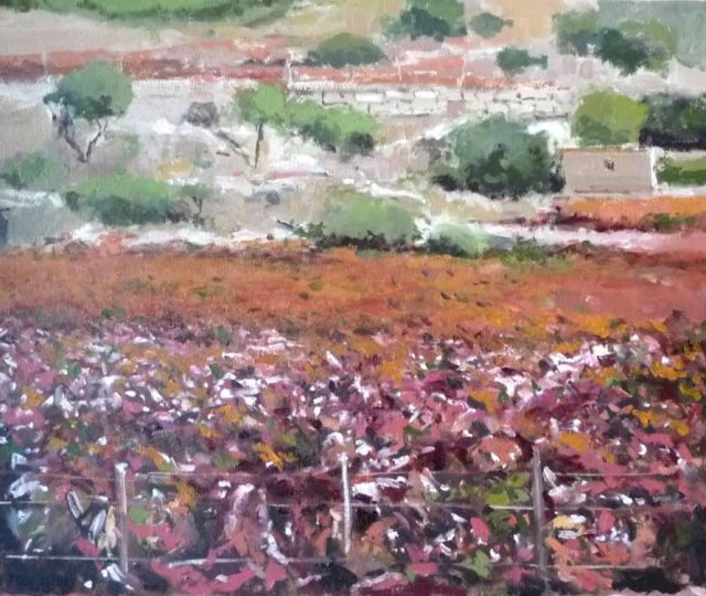 óleo de La Rioja en otoño