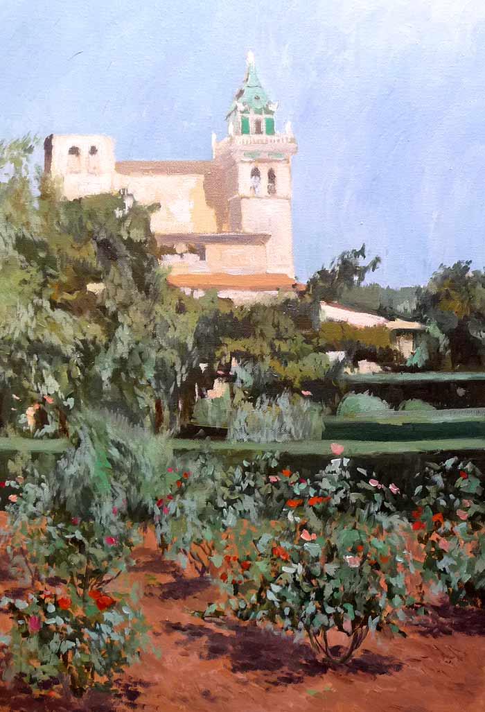 Oleo de Valldemossa en Mallorca