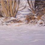 Cuadro al oleo de un paisaje de invierno