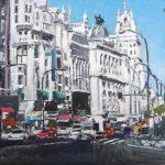 Cuadro al oleo de Madrid, Gran Vía
