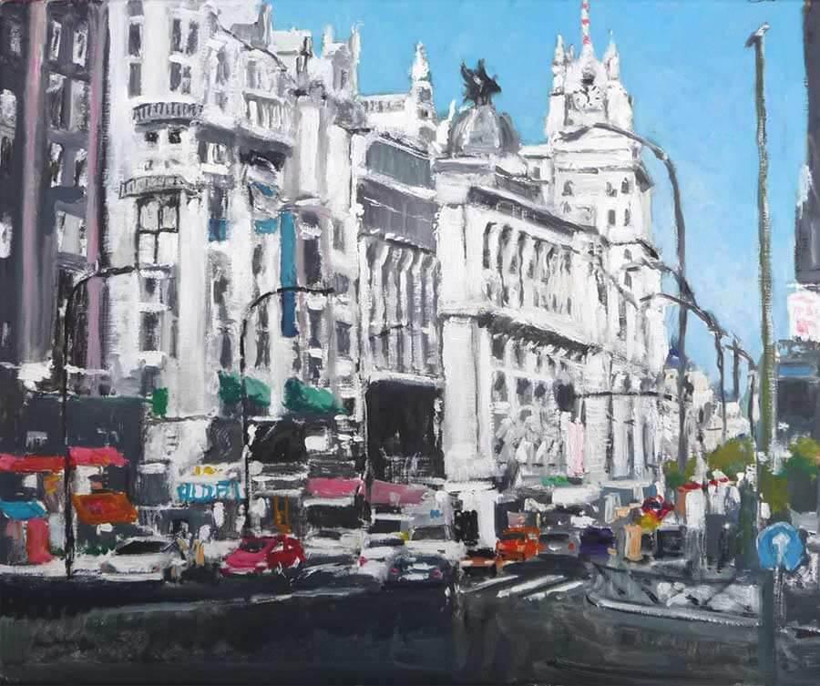 cuadro al oleo de Madrid
