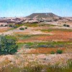 Cuadro al óleo de un paisaje de Soria