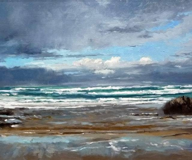Playa de la Maruca, óleo sobre lienzo