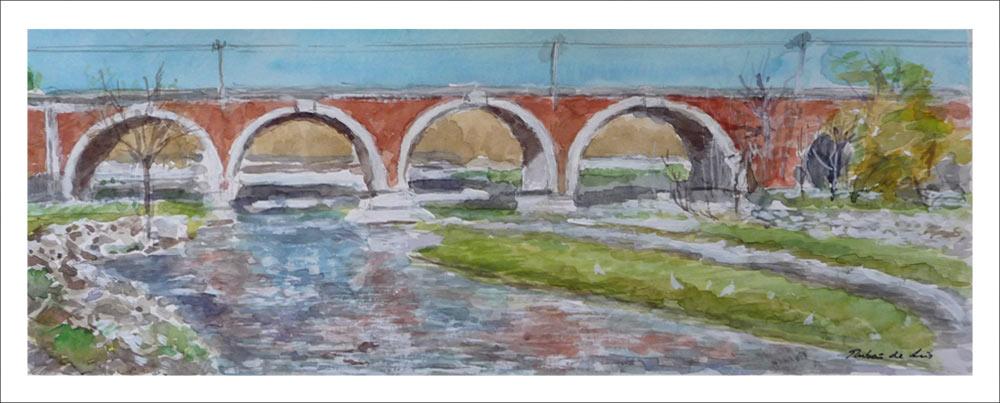 Acuarela del Puente de los Franceses, Madrid